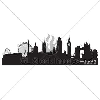 325x325 Cambridge England City Skyline Detailed Silhouette Gl Stock Images