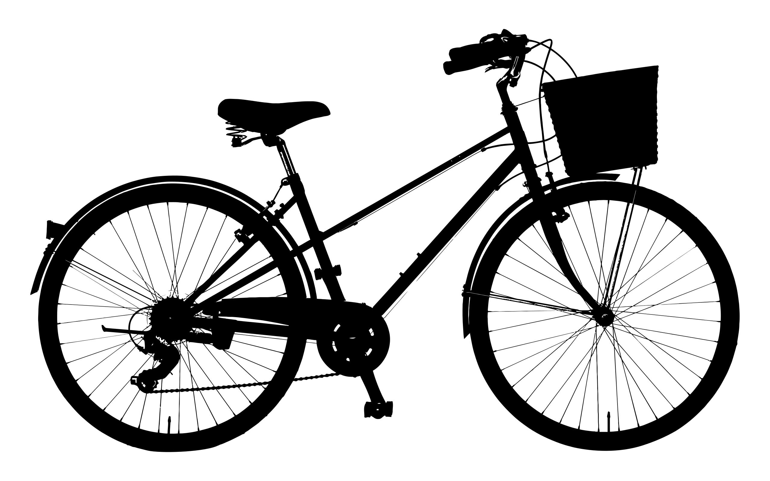 2560x1600 Detailed Bicycle Silhouette Clipart