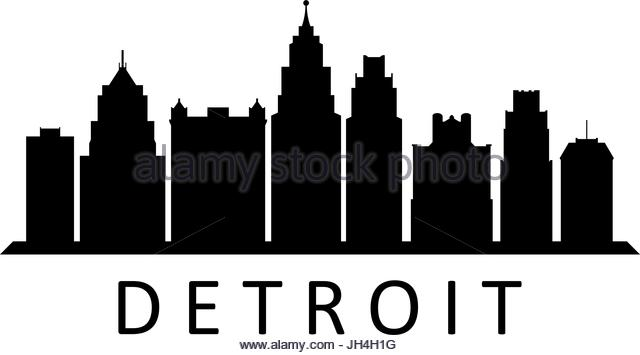 detroit skyline silhouette at getdrawings com free for personal rh getdrawings com detroit skyline vector art