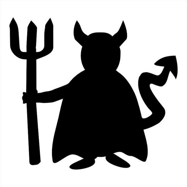 600x600 List Of Synonyms And Antonyms Of The Word Devil Silhouette