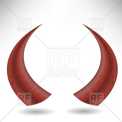 400x400 Halloween Red Horns, Devil's Horns Royalty Free Vector Clip Art