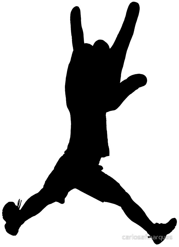 582x800 Jumping Devil Horns Hand Silhouette Posters By Carlosafmarques