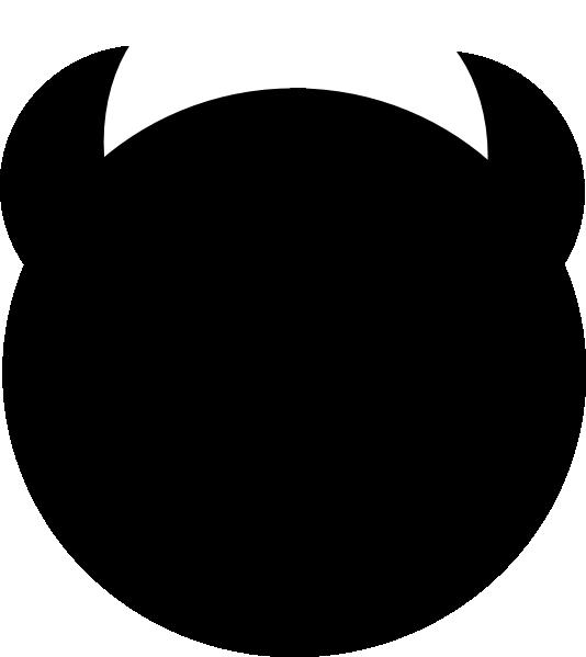 534x599 Black Devil Horns Clip Art