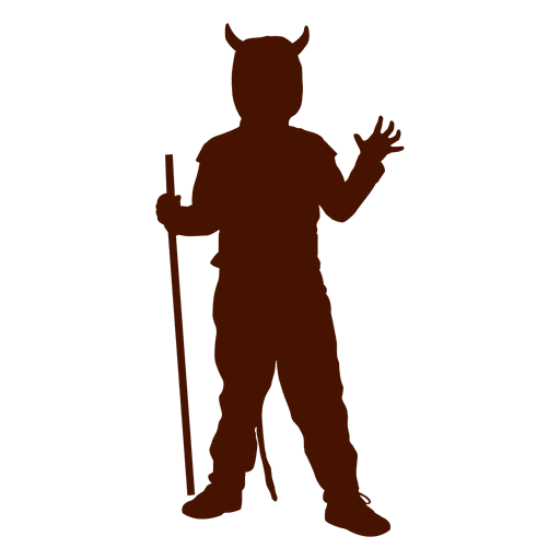 512x512 Boy Devil Costume Silhouette