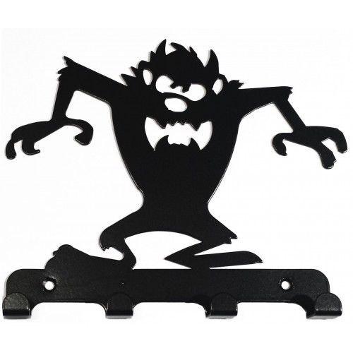 500x500 Taz Style Tasmanian Devil Silhouette Key Hook Rack Metal