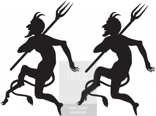 640x474 Devil Clipart Silhouette