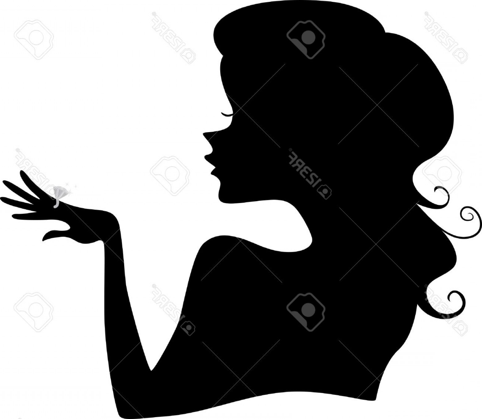 1560x1354 Photoillustration Of Girl S Silhouette Wearing A Diamond Ring