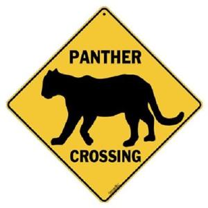 300x300 Panther Metal Silhouette Crossing Sign 16 12 X 16 12 Diamond