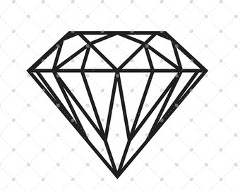 340x270 Diamond Svg Cut Files For Cricut, Silhouette And Other Vinyl