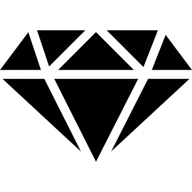 626x626 Diamond With White Outline Icons Free Download