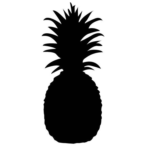 570x570 121 Pineapple Silhouette Tiny Clipart