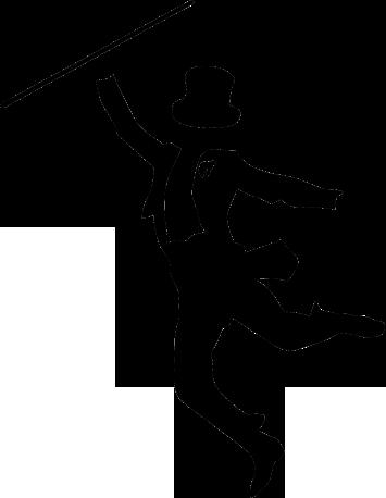 355x458 Nice Tap Dance Silhouette Cartoon Bunny Dancing Silhouettes