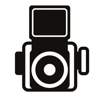 340x340 Free Silhouette Vector An Illustration, Camera