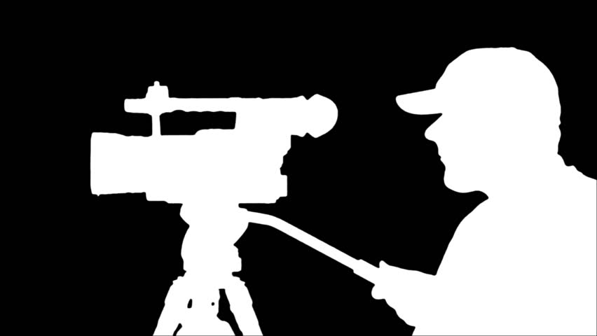 852x480 Silhouette Of A Cameraman Recording Digital Video On Camcorder