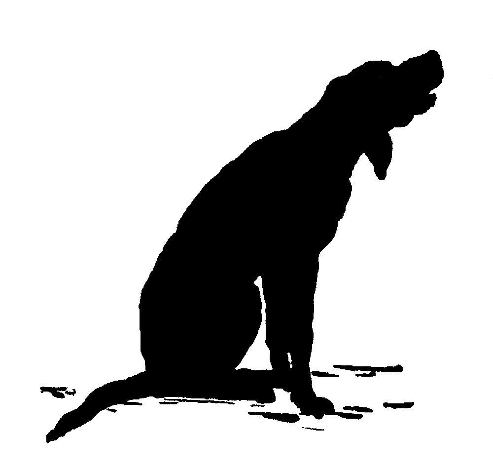 1000x958 Digital Stamp Design Antique Silhouette Downloads Boy Dog Digital