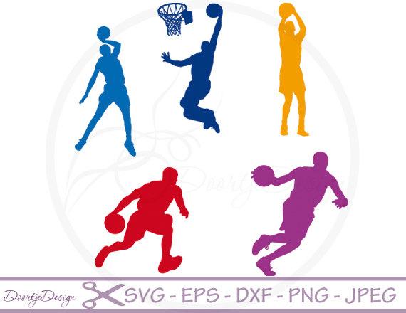 570x440 Svg Cutting Files Basketball Silhouette Digital Clipart, Clipart