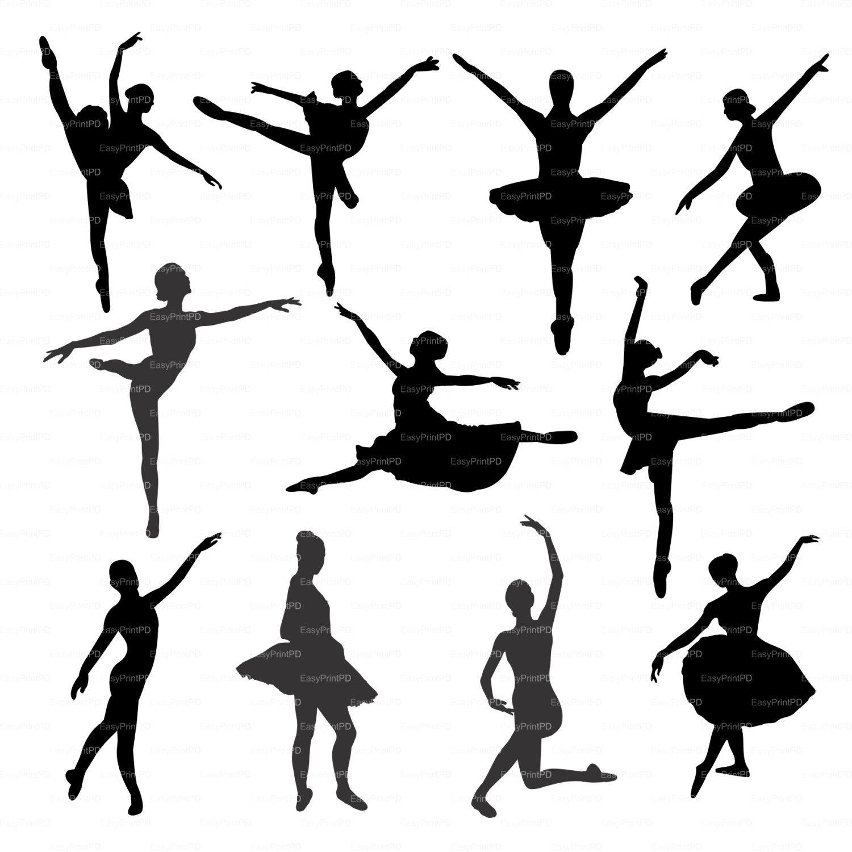 1500x1500 Ballerina Ballet Silhouette (Eps Svg Dxf Ai Jpg Png) Vector