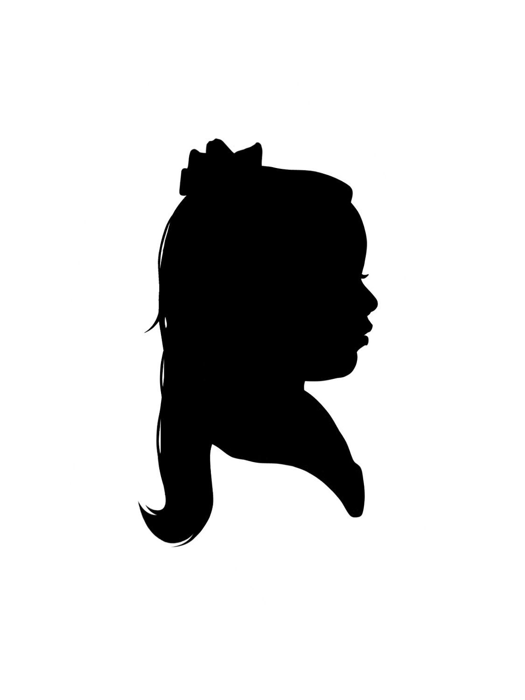 1125x1500 Digital Custom Silhouette Portrait. Silhouette