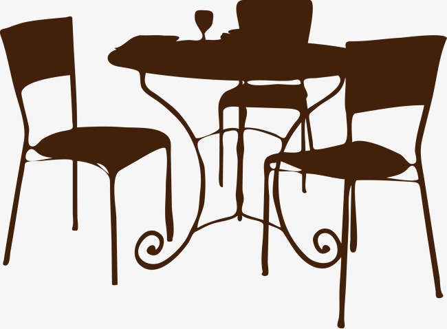650x478 Continental Dining Table Silhouette Vector, Vector, Continental