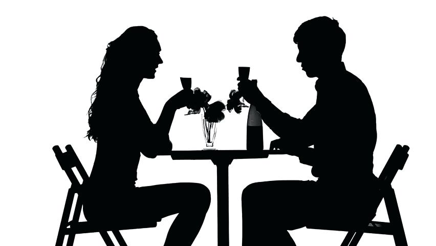 852x480 Dining Silhouette Silhouette Napkin Holder Couple Dining