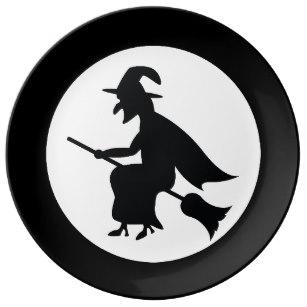 307x307 Flying Witch Plates Zazzle