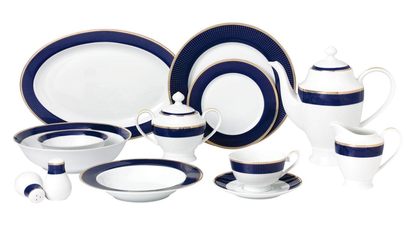 1386x800 La Luna Bone China 57 Piece Dinnerware Set, Service For 8