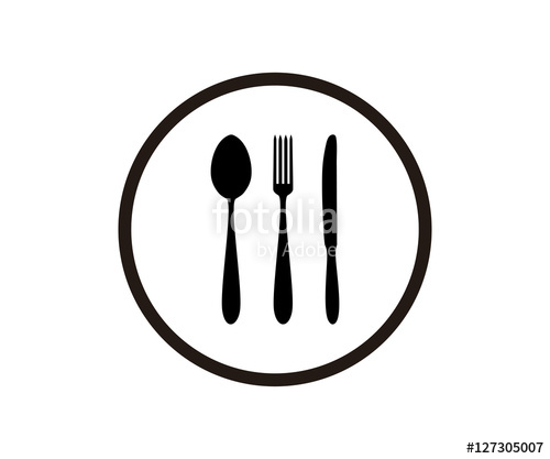 500x417 Silhouette Circle Fork Spoon Knife icon Logo Design Stock image  sc 1 st  GetDrawings.com & Dinner Plate Silhouette at GetDrawings.com | Free for personal use ...