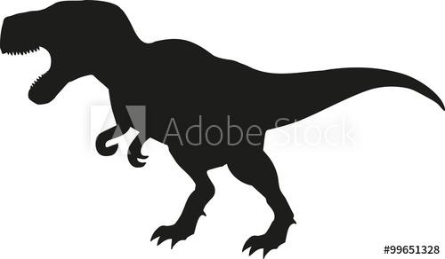 500x292 Dinosaur Tyrannosaurus Silhouette