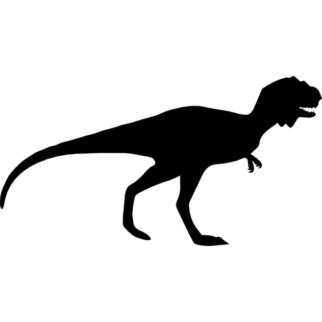 626x626 Dinosaur Silhouette Of Majungasaurus Icons Free Download