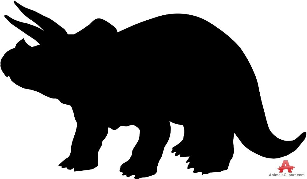 999x582 Triceratops Dinosaur Silhouette Clipart Free Clipart Design