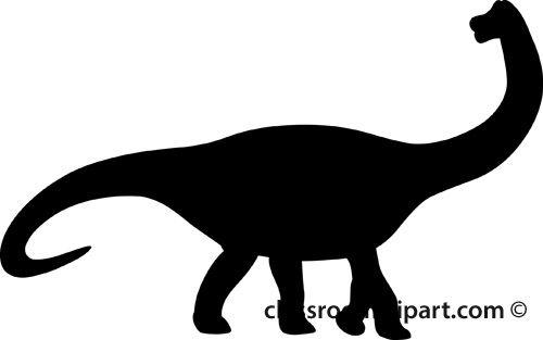 500x313 Simple Dinosaur Silhouette