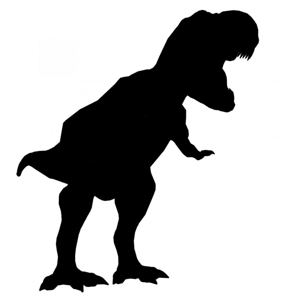 1024x1024 Dinosaur Predator Hunter T Rex Raptor Silhouette Vector Clipart