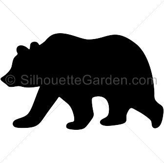 336x334 Bear Clipart Silhouette
