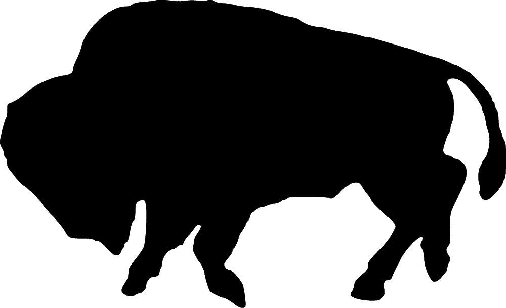 1000x609 Bison Clipart Silhouette