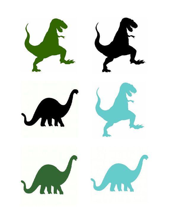 570x738 Dinosaur Download Iron On 6 Silhouettes Fabric Transfer Printable