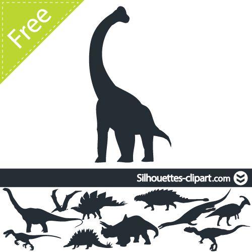 500x500 Dinosaur Vector Silhouette On Behance Dino