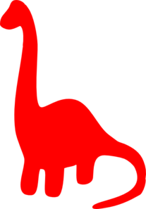 207x297 Red Dinosaur Silhouette Clip Art