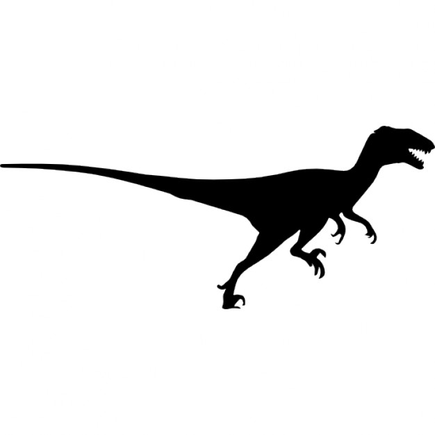 626x626 Deinonychus Dinosaur Silhouette Side View Icons Free Download