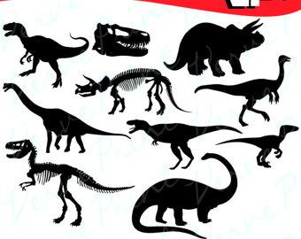 340x270 Dinosaur Silhouette Clipart