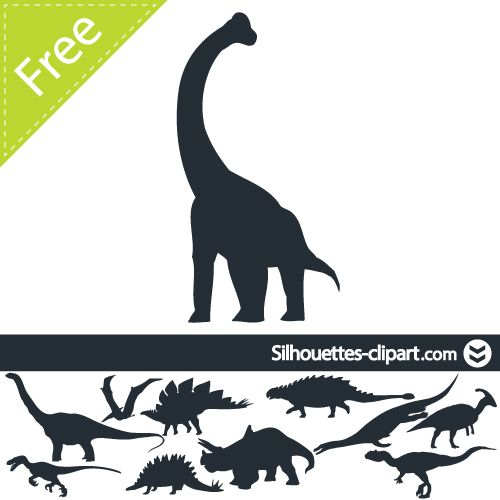 500x500 Dinosaur Vector Silhouette On Behance Dino