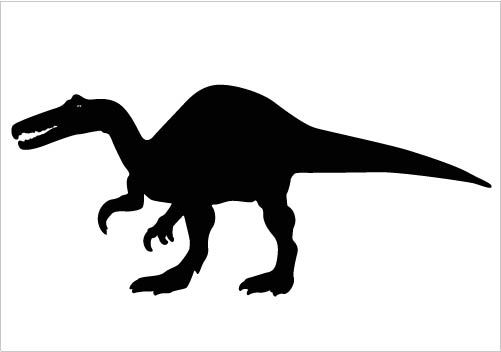 501x352 Dinosaurs Silhouette Vector Clipart Perfect For Download