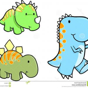 300x300 Cartoon Dinosaurs Vector Illustration Monster Silhouette Animal