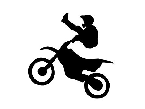463x347 Dirt Bike Stunt Silhouette