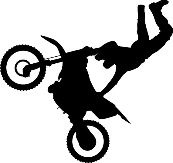 570x535 Dirt Bike Silhouette Decals From Collinscustoms On Etsy Studio