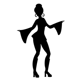 270x270 Disco Dancer Silhouette 02 Stencil Free Stencil Gallery