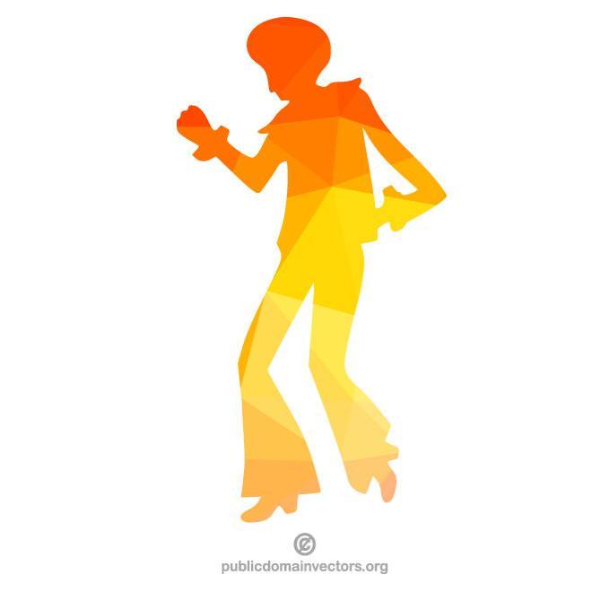 660x660 Silhouette Of A Disco Dancer