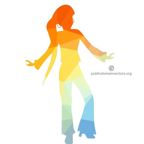 500x500 Silhouette Of A Disco Dancer Public Domain Vectors