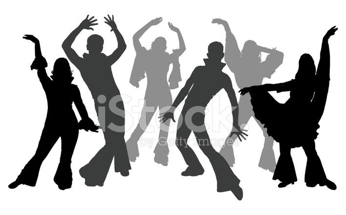 708x440 Disco Dancers Stock Vector