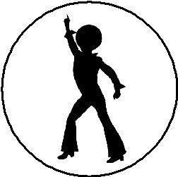 252x251 Disco Dancing Silhouette 1.25 Magnet