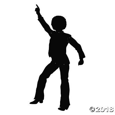 400x400 Pictures Disco Dancers Silhouette Cutouts,